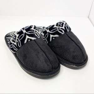 Vera Bradley Black and White Slippers